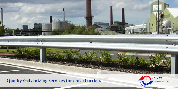 Quality Galvanizing services for crash barriers